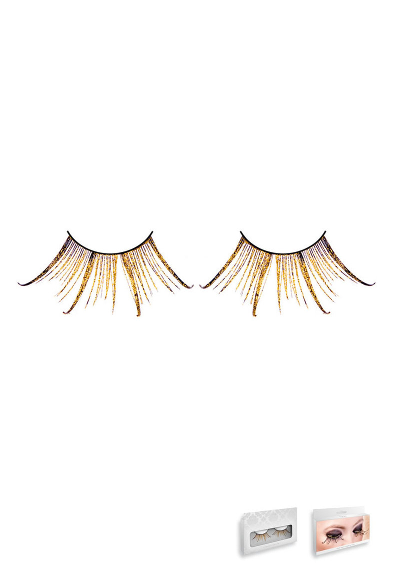 Brown-gold Feather Eyelashes