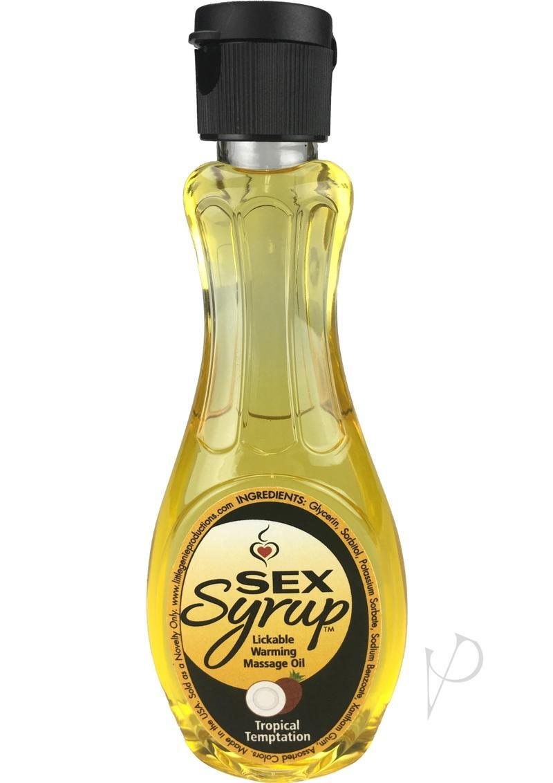 Sex Syrup Lickable Warming Massage Oil Tropical Temptation 4 Ounce